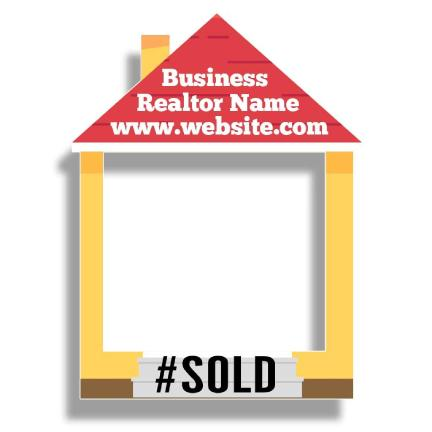 Custom Realtor House Frame Photo Prop