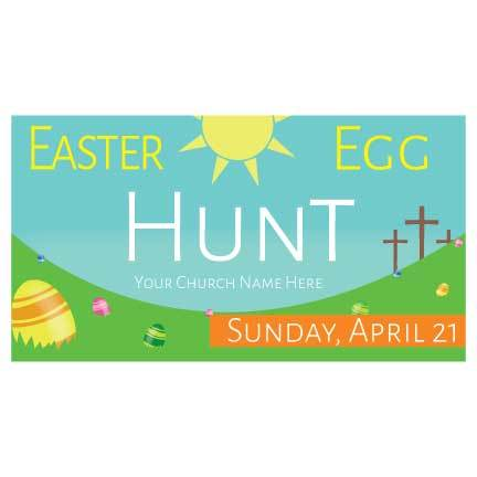 Custom Easter Egg Hunt Banner: Waterproof Vinyl Banner