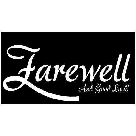 Graduation Banner - Farewell And Good Luck Waterproof Vinyal Banner
