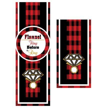 Bachelorette Door Banner - Flannel Fling Before The Ring Door Banner
