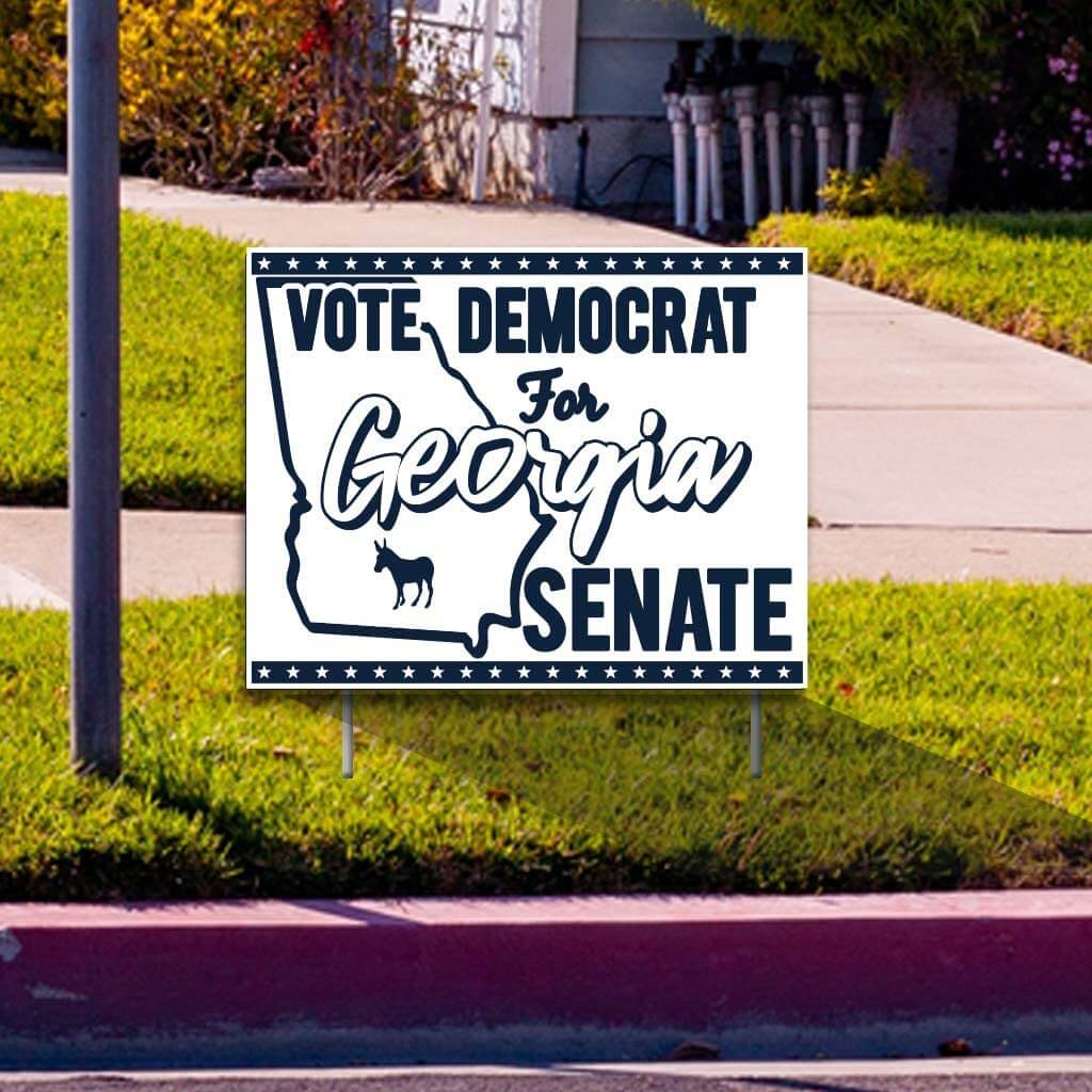 Vote Democrat for Georgia Senate Yard Sign
