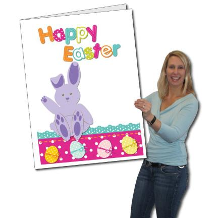 Giant Easter Greeting Card - Happy Easter with Bunny