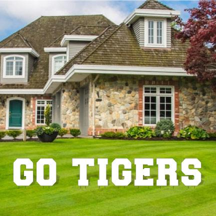 Go Tigers Yard Letters - FREE SHIPPING