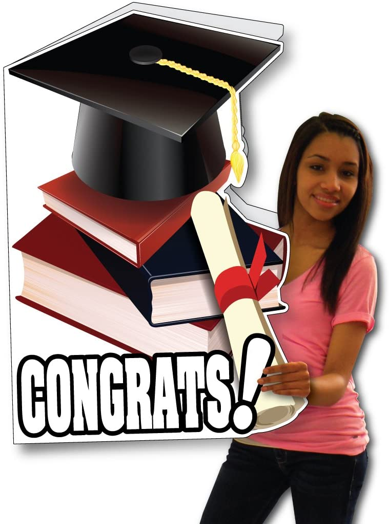 Giant Graduation Shaped Greeting Card