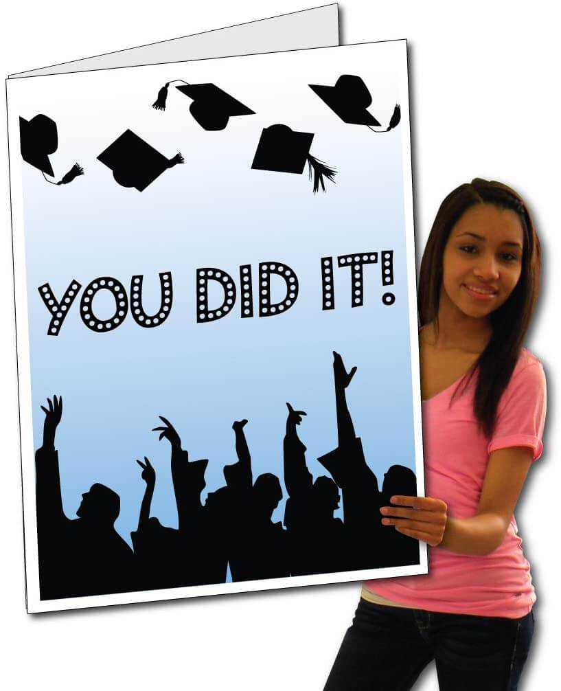 Giant Graduation Cap Toss Card - 3' Standard Card