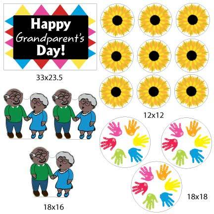 Happy Grandparent's Day (Dark Skin Tone) Yard Decorations