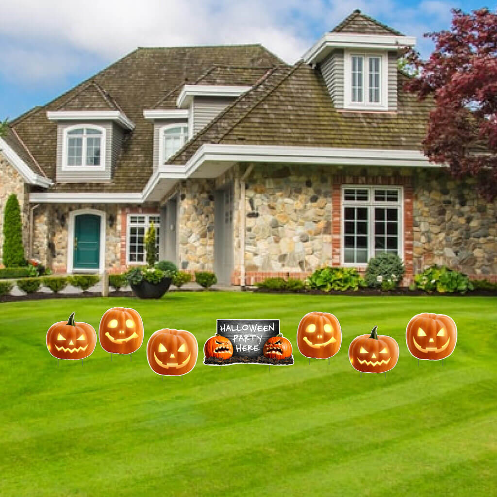 Scary Halloween Pumpkin Halloween Party Decor
