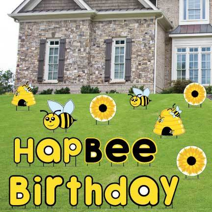 HapBEE Birthday Yard Decorations