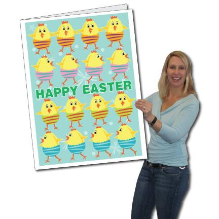 Giant Easter Card - Happy Easter with Chicks