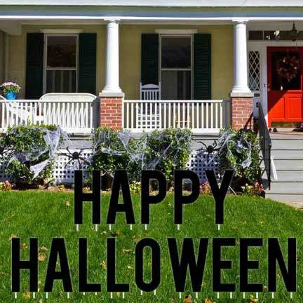 Halloween Yard.Happy Halloween Yard Letters Decor Free Shipping