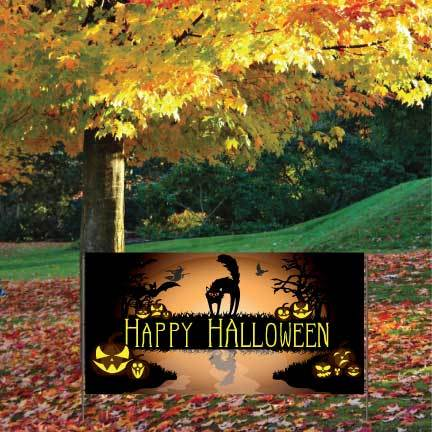 Happy Halloween Waterproof Vinyl Banner