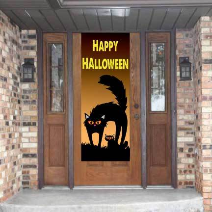 Happy Halloween Door Banner- Waterproof Vinyl Door Banner