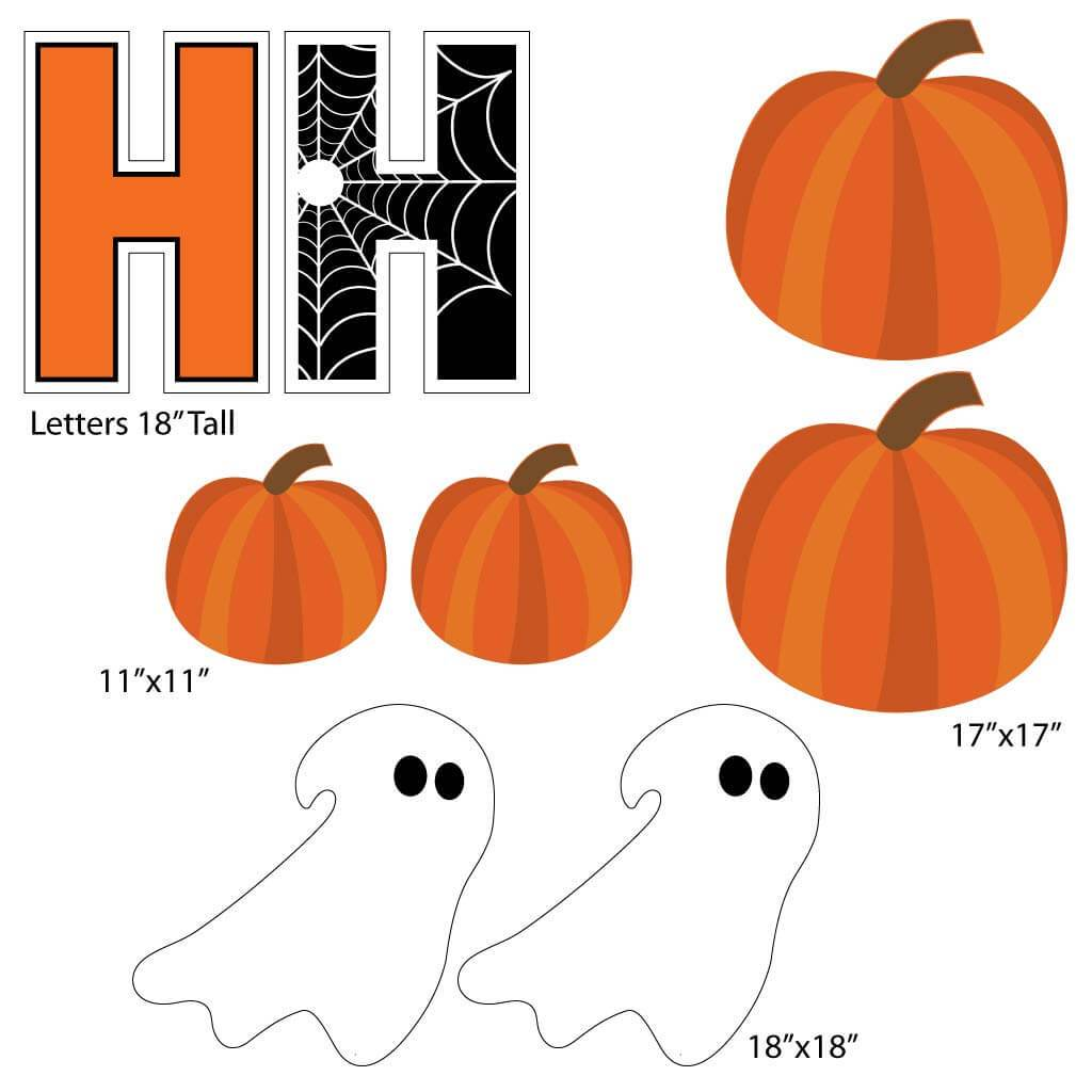 Happy Haunting Halloween Yard Greeting - 19 piece set