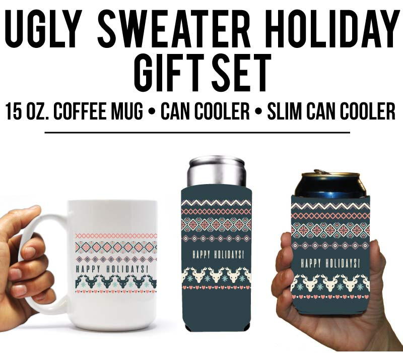Ugly Sweater Theme Gift Set Holiday Gift