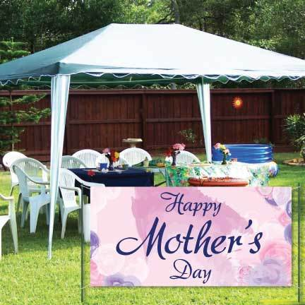 Happy Mother's Day Banner - Watercolor Waterproof Vinyl Banner