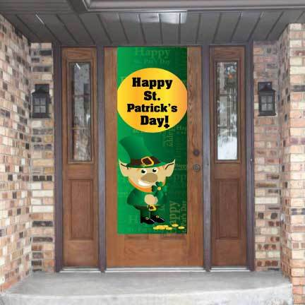 Happy St. Patrick's Day Waterproof Vinyl Door Banner