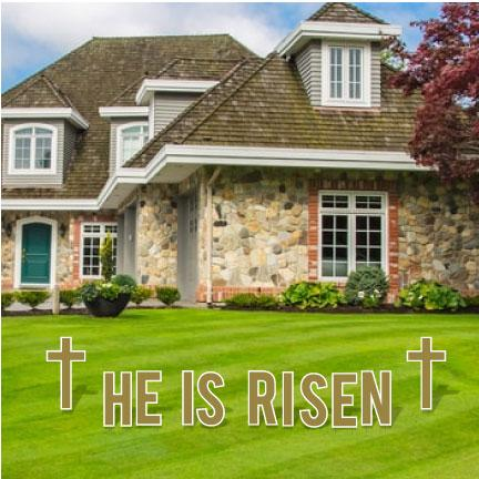 He Is Risen Religious Easter Yard Letters FREE SHIPPING