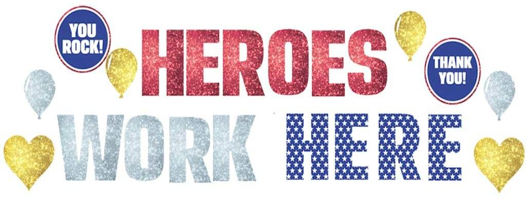 Heroes Work Here Yard Decorations