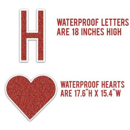 Homecoming Yard Letters and Hearts - FREE SHIPPING