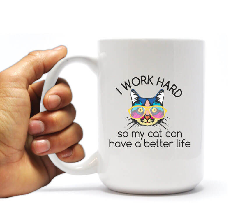 Funny Cat themed holiday gift coffee mug