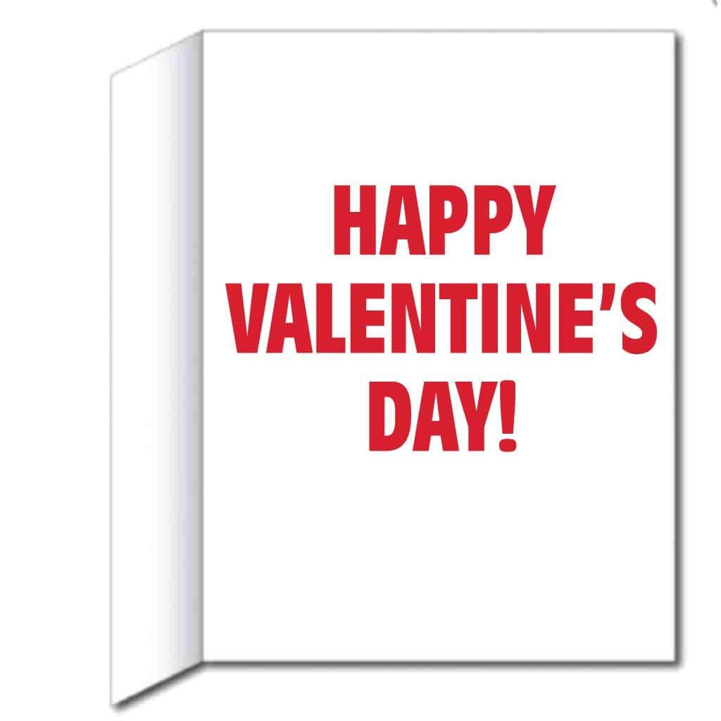 3' Stock Design My Side of the Wall Valentine's Day Card - Huge Greeting Card