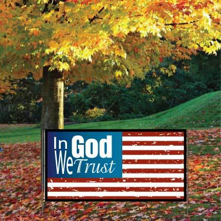 In God We Trust Banner Yard