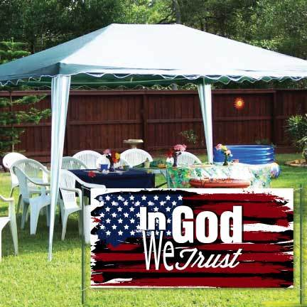 Veterans Day Banner- In God We Trust Waterproof Vinyl Banner