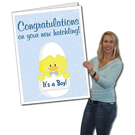 3' Tall Stock Design It's A Boy Giant Baby Card