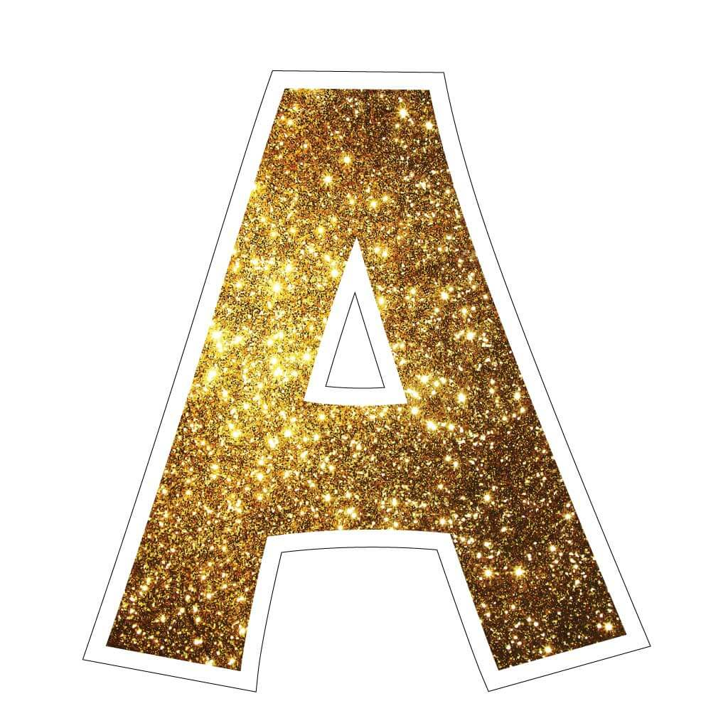 Gold Sparkle Yard Letter Signs