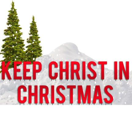 Keep Christ in Christmas Red Yard Letters