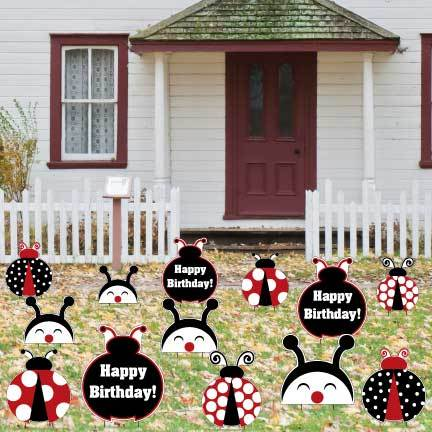 Ladybug Birthday Yard Decorations