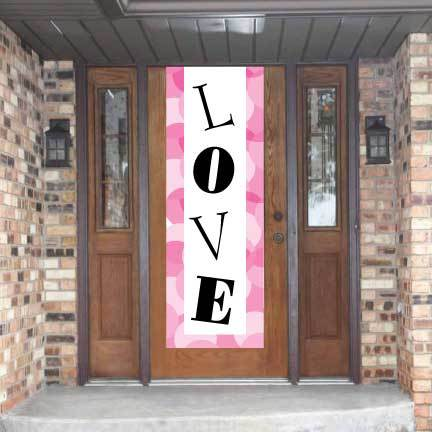 Valentine Door Banner - Love Waterproof Vinyl Door Banner