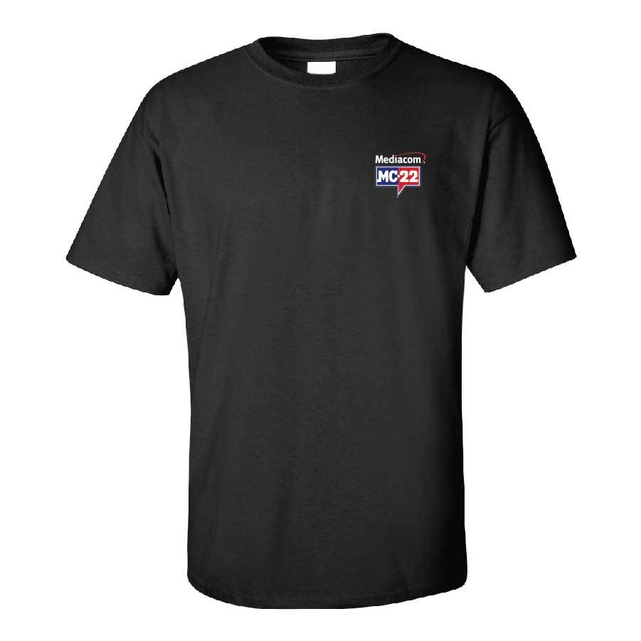 MC22 Black Short Sleeve 1-Sided T-Shirt