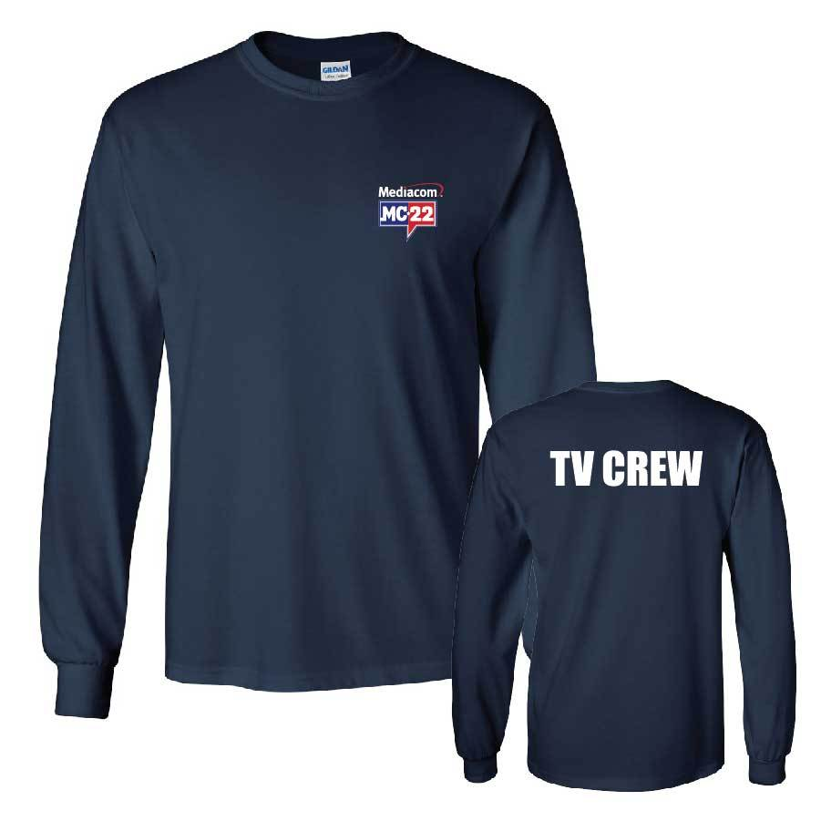 MC22 Navy Long Sleeve 2-Sided Cotton T-Shirt