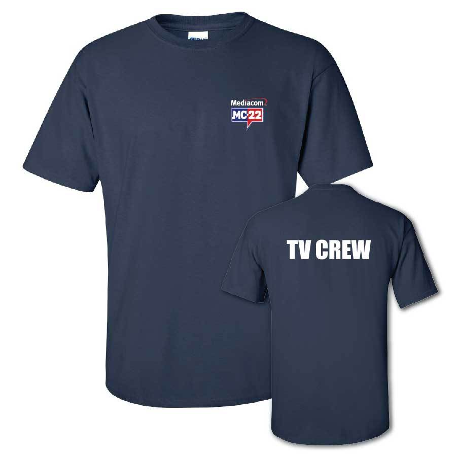 MC22 Navy Short Sleeve 2-Sided Cotton T-Shirt