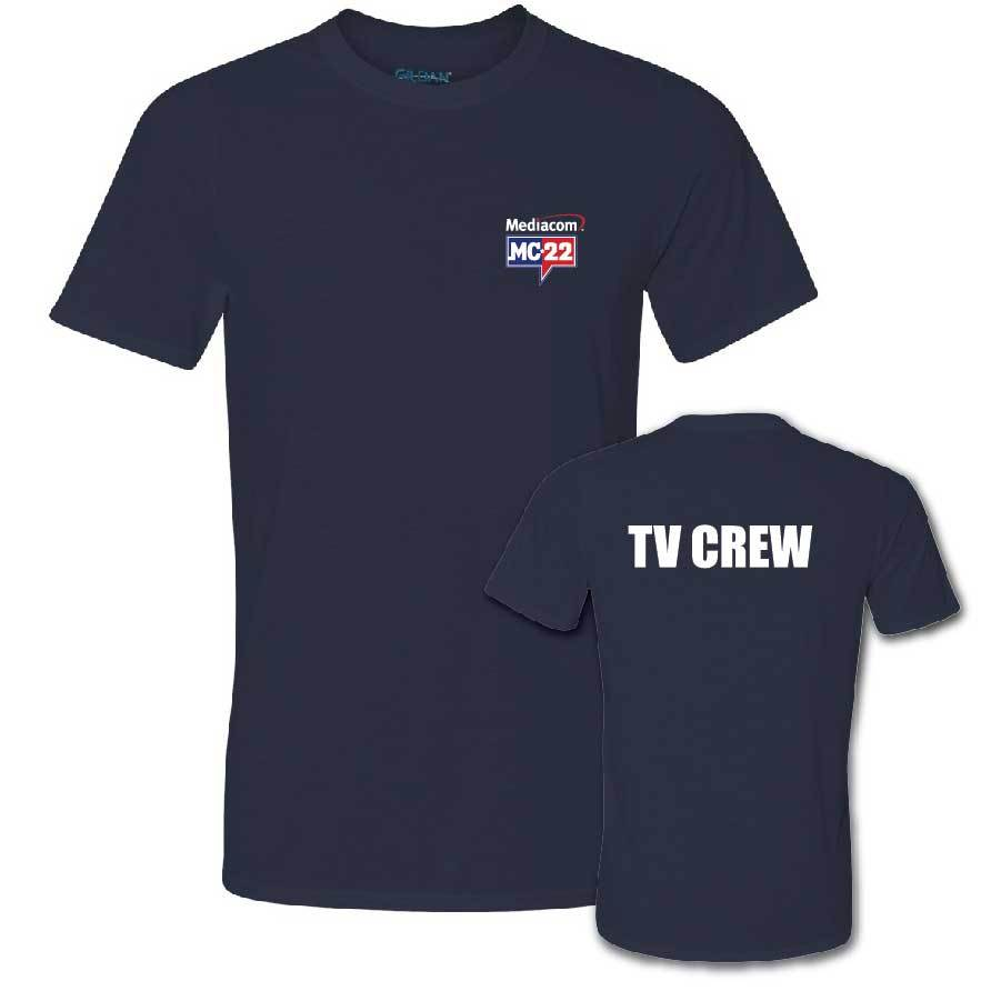 MC22 Navy Short Sleeve Performance 2-Sided T-Shirt