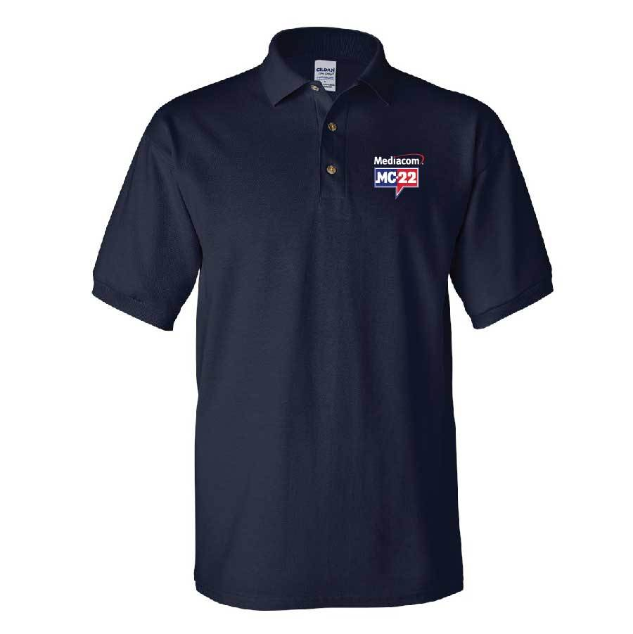 MC22 Men's Embroidered Navy Cotton Polo Shirt