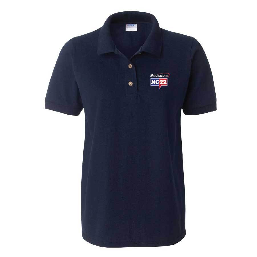 MC22 Ladies Embroidered Navy Cotton Polo Shirt