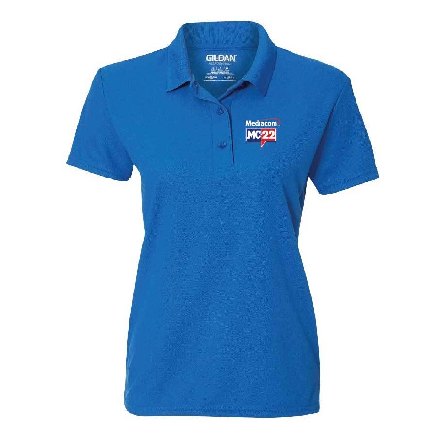 MC22 Ladies' Embroidered Performance® Double Pique Polo Shirt