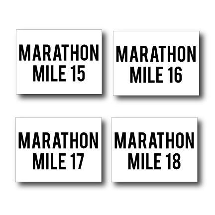 Marathon Race Yard Sign Package
