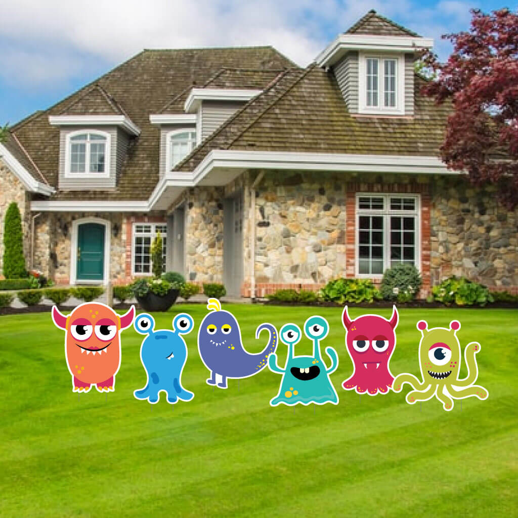 Monster Character Yard Sign Flair Set