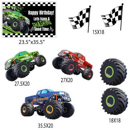 Monster Truck Happy Birthday Yard Decorations - FREE SHIPPING