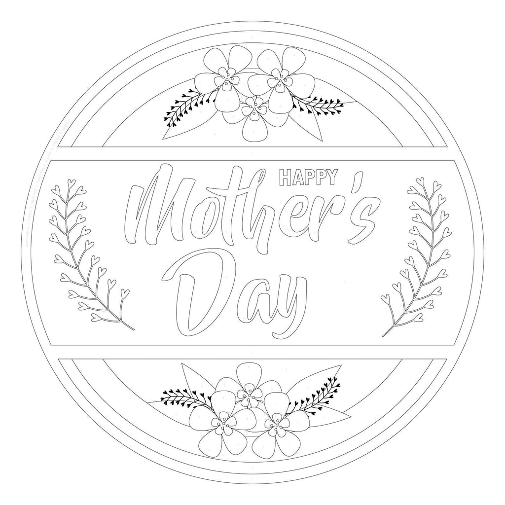 Mother's Day Color-by-Number Yard Sign Craft FREE SHIPPING