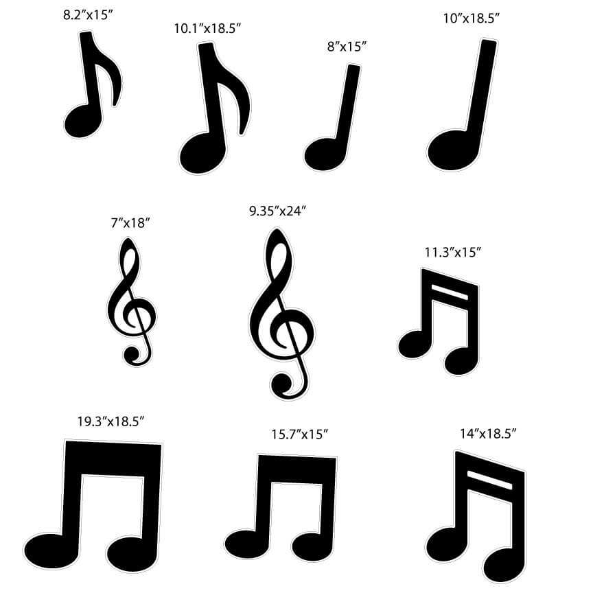 music notes yard card signs