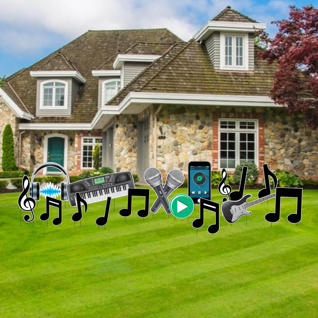 music themed yard greeting accessory set yard greetings