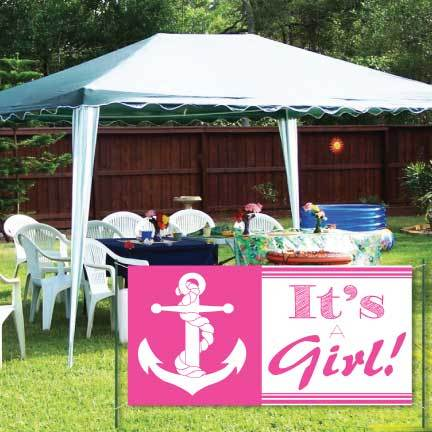 Nautical It's A Girl Banner