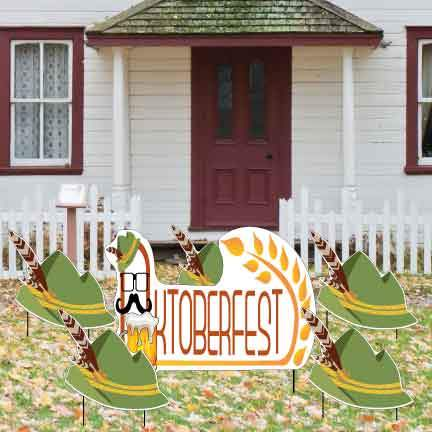 Oktoberfest Decorations: October Fest Pathway markers