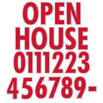 Open House and Numbers Yard Letters Decoration