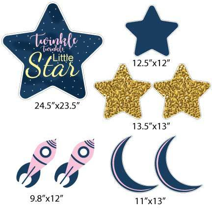 Pink Twinkle Twinkle Little Star Pathway Decorations