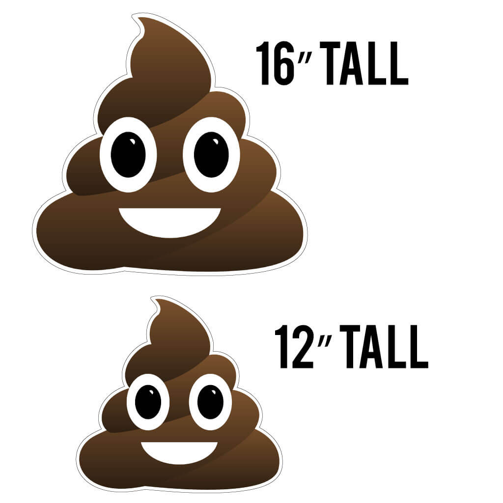 Poop Emoji Yard Sign Decoration Set of 26 (AC9)